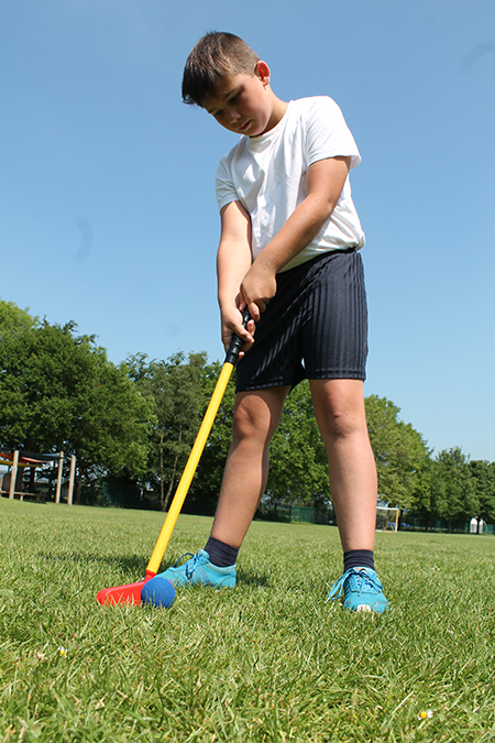 Enrichment - Image of student in goal as part of a football game